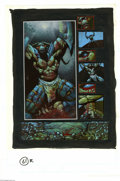 Original Comic Art:Panel Pages, Simon Bisley and Kevin Eastman - Melting Pot, page 61 Original Art (Kitchen Sink, 1994). Lord Tyler raises his arms in appar...