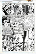 Original Comic Art:Panel Pages, John Byrne and George Perez - Action Comics #600, page 29 Original Art (DC, 1988). Fifty years almost to the day when Superm...