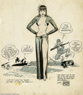 Original Comic Art:Sketches, Milton Caniff - Miss Lace Pin-Up Original Art (undated). Hubba hubba! The men of the 63rd Infantry Division are zero-ing in ...