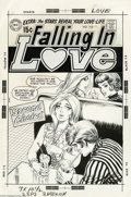 Original Comic Art:Covers, Nick Cardy - Falling in Love #112 Cover Original Art (DC, 1970).The mean girls in the next booth have reduced this pretty b...(Total: 4 items Item)