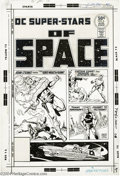 Original Comic Art:Covers, Ernie Chan - DC Super-Stars #6 Cover Original Art (DC, 1976). TheDC super-stars of space take center stage on this stellar ...