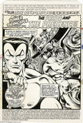 Original Comic Art:Splash Pages, Dave Cockrum and Terry Austin - The Defenders #53, Splash Page 1Original Art (Marvel, 1977). Roll call: Namor! The Hulk! Ni...
