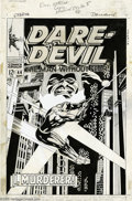 Original Comic Art:Covers, Gene Colan and Jim Steranko - Daredevil #44 Cover Original Art (Marvel, 1968). Beneath Daredevil #44's powerfully symbol...
