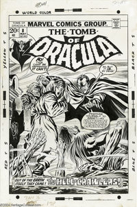 Gene Colan (attributed) and Tom Palmer - Tomb of Dracula #8 Cover Original Art (Marvel, 1973). He might be old, he might...