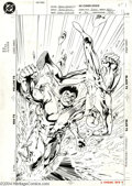 "Original Comic Art:Covers, Alan Davis and Mark Farmer - Flash #84 Cover Original Art (DC,1993). Flash finds himself balanced on ""The Cutting Edge"" of ..."
