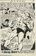 Original Comic Art:Panel Pages, Dick Dillin and Sid Greene - Justice League of America #64, page 2Original Art (DC, 1968). The Red Tornado triumphantly ret...