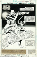 Original Comic Art:Splash Pages, Ric Estrada and Wally Wood - Richard Dragon, Kung-Fu Fighter #8,page 1 Original Art (DC, 1976). A dramatic montage title sp...