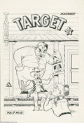 Original Comic Art:Covers, Al Fago - Target Comics Vol.6 #8 Cover Original Art (Novelty Press,1945). He created Atomic Mouse, and his Frisky Fables...