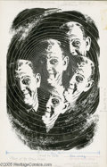 Original Comic Art:Sketches, Virgil Finlay - Amazing Stories January, 1962 Illustration Original Art (Ziff-Davis, 1962). Virgil Finlay demonstrates his v...