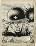 Original Comic Art:Sketches, Gill Fox - American Red Cross Poster Illustration Original Art (circa 1944). Gill Fox pays tribute to the brave men of the A...