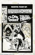 Original Comic Art:Covers, Ron Frenz and Kevin Dzuban - Marvel Team-Up Annual #6 CoverOriginal Art (Marvel, 1983). Cloak and Dagger, the New Mutants, ...