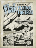 """Original Comic Art:Complete Story, Sam Glanzman (attributed) - Green Hornet #29 Complete 6-page Story""""Flak From a Flying Fortress"""" Original Art (Harvey, 1946)...."""