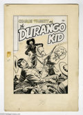 Original Comic Art:Covers, Fred Guardineer - Durango Kid #20 Cover Original Art (MagazineEnterprises, 1953). The Durango Kid slaps leather to defend a...