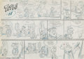 Original Comic Art:Comic Strip Art, Gene Hazelton - Flintstones Sunday Comic Strip Preliminary Original Art (undated). Fred's Pop is still a player, as Pebble n...