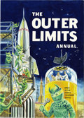 Original Comic Art:Covers, Walter Howarth - Outer Limits British Hardcover Annual Original Art(1964). This very imaginative cover painting features a ...
