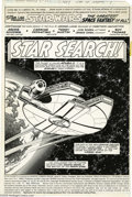Original Comic Art:Splash Pages, Carmine Infantino and Terry Austin - Star Wars #11, page 1 OriginalArt (Marvel, 1978). The Millenium Falcon perches high ab...
