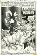 "Original Comic Art:Splash Pages, Gil Kane and Tony DeZuniga - All-Star Western #8, ""Timber Wolf""Splash page 1 Original Art (DC, 1971). Tony DeZuniga's inks ..."