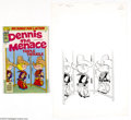 Original Comic Art:Covers, Hank Ketcham Studios - Dennis the Menace Bonus Magazine #179 CoverOriginal Art (Fawcett, 1978). Dennis is all dressed up in...(Total: 2 items Item)