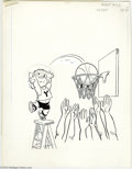 Original Comic Art:Covers, Hank Ketcham Studios - Dennis the Menace Pocket Full of Fun #43Cover Original Art (Hallden, 1979). Dennis uses a the help o...