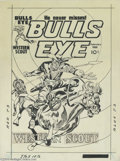 Original Comic Art:Covers, Jack Kirby and Joe Simon - Bulls Eye #4 Cover Original Art (Mainline, 1955). Jack Kirby and Joe Simon present this thrilling...