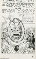 Original Comic Art:Splash Pages, Jack Kirby and Dick Ayers - Tales of Suspense #31 Dr. DoomPrototype Splash Page Original Art (Marvel, 1961)....