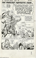 Original Comic Art:Splash Pages, Jack Kirby and Dick Ayers - Fantastic Four #17, page 1 Original Art(Marvel, 1963)....