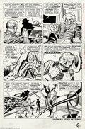 Original Comic Art:Panel Pages, Jack Kirby and Dick Ayers - Fantastic Four #20, page 6 Original Art(Marvel, 1963)....