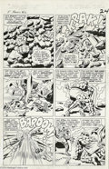 Original Comic Art:Panel Pages, Jack Kirby and Vince Colletta - Fantastic Four #40 Page 18 OriginalArt (Marvel, 1965). Stand back! It's the Thing vs. Dr. D...
