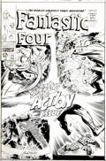 Original Comic Art:Covers, Jack Kirby and Joe Sinnott - Fantastic Four #71 Cover Original Art (Marvel, 1967). It was sizzling, non-stop action as the F...