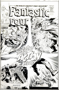 Jack Kirby and Joe Sinnott - Fantastic Four #71 Cover Original Art (Marvel, 1967). It was sizzling, non-stop action as t...