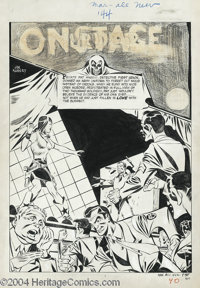 Joe Kubert - All-New Comics #7 Pages Original Art, Group of 7 (Harvey, 1944). This group lot collects the first seven pa...