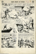 Original Comic Art:Panel Pages, Joe Kubert - Our Army at War #130, page 7 Original Art (DC, 1963). Joe Kubert, one of the acknowledged giants in the world o...
