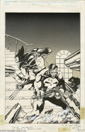 Original Comic Art:Covers, Jim Lee - Overstreet's Price Update #7 Cover Original Art (1988).This dangerous delineation by Jim Lee features two of the ...