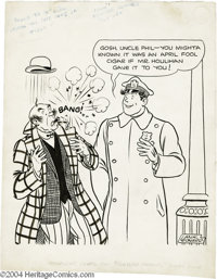 Lank Leonard and Morris Weiss - Feature Funnies #19 Cover Original Art (Eastman Color, 1939). Real fame came to Lank Leo...