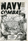 Original Comic Art:Covers, Joe Maneely (attributed) - Navy Combat #6 Cover Original Art(Atlas, 1956). Joe Maneely spotlights a warm handshake between ...