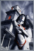 Original Comic Art:Covers, Mike Mayhew - Vampirella #8 Cover Original Art (Harris, 2002)....