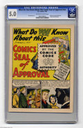 Golden Age (1938-1955):Non-Fiction, What Do You Know About This Comics Seal of Approval? #nn (DC, 1955) CGC VG/FN 5.0. What do you know about this giveaway comi...