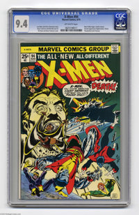 X-Men #94 (Marvel, 1975) CGC NM 9.4 Off-white pages. The new X-Men made their debut in the regular X-Men series here, pr...