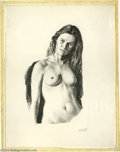 Original Comic Art:Sketches, Paul Calle - Nude Woman Pencil Illustration Original Art (undated). Paul Calle displays his virtuosity with a pencil in this...