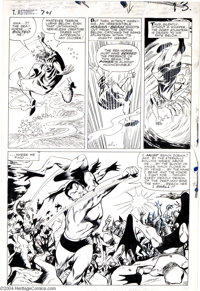 Gene Colan and Vince Colletta - Tales to Astonish #74, page 10 Original Art (Marvel, 1965). This all-out action page fea...