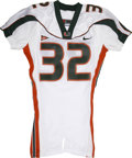 Football Collectibles:Uniforms, Frank Gore Game Worn University of Miami Jersey. The NFC's reigning rushing champ Frank Gore exhibits an explosiveness that...