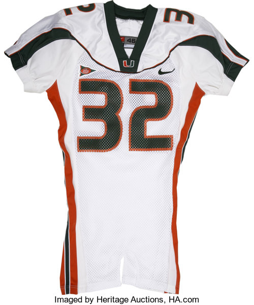 sports shoes 3120e ce5cc Frank Gore Game Worn University of Miami Jersey. The NFC's ...