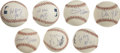 Autographs:Baseballs, Non-Sports Figures Single Signed Baseballs Lot of 7. They may neverhave played the game, but that didn't stop some major n...