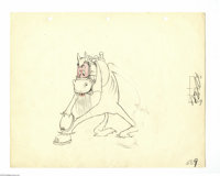 Walt Disney Studios - Pencil Animation Drawing Original Art (Disney, undated). A horse is a horse is a horse, unless of...