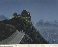 Walt Disney Studios (attributed) - Background Original Art (Disney, undated). The Griffith Observatory has been a major...