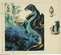 Original Comic Art:Sketches, Andre Durenceau - Dinosaur Illustration Original Art (undated). In a preliminary sketch for a piece seen at the 1939 New Yor...