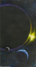 """Original Comic Art:Sketches, Bob Eggleton - Planetary Alignment Illustration Original Art (undated). """"...there is geometry in the humming of the strings,..."""