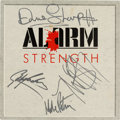 Music Memorabilia:Memorabilia, The Alarm Signed Strength Vinyl LP and After Show Pass (1985).... (Total: 2 Items)