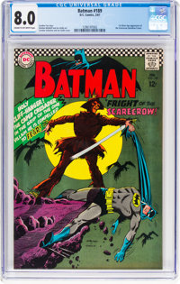 Batman #189 (DC, 1967) CGC VF 8.0 Dark tan to off-white pages