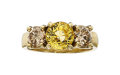 Estate Jewelry:Rings, Yellow Sapphire, Colored Diamond, Gold Ring Th...